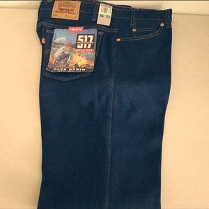 Vintage Levi's 517 Denim Jean Boot Cut Sz 38x34